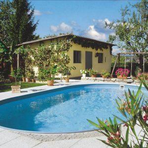 Planet Pool Stålväggspool Premium Oval 8 x 4,2 x 1,5m