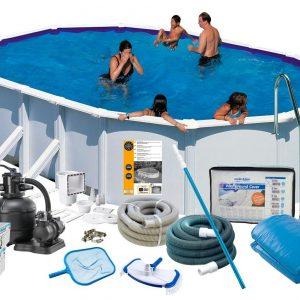 Swim & Fun Poolpaket Deluxe 610x375x13