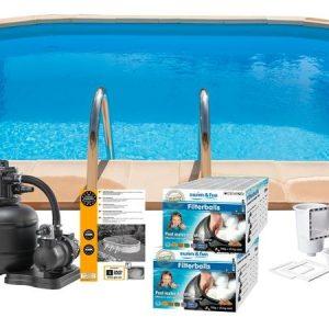 Swim & Fun Poolpaket Inground 800x400x120