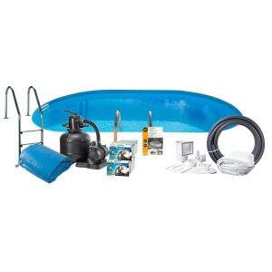 Swim and Fun Poolpaket Nedgrävd Extra Djup Oval Swim & Fun Inground 150 Cm Djup 700x320cm