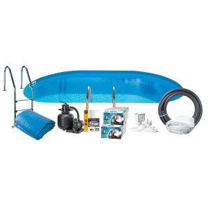 Swim and Fun Poolpaket Nedgrävd Oval Swim & Fun Inground 120 Cm Djup 800x400cm