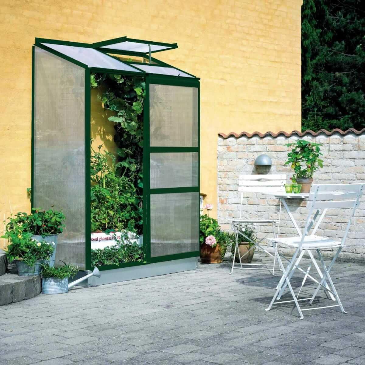 Halls Växthus Altan 2 0,9 kvm Grön Glas