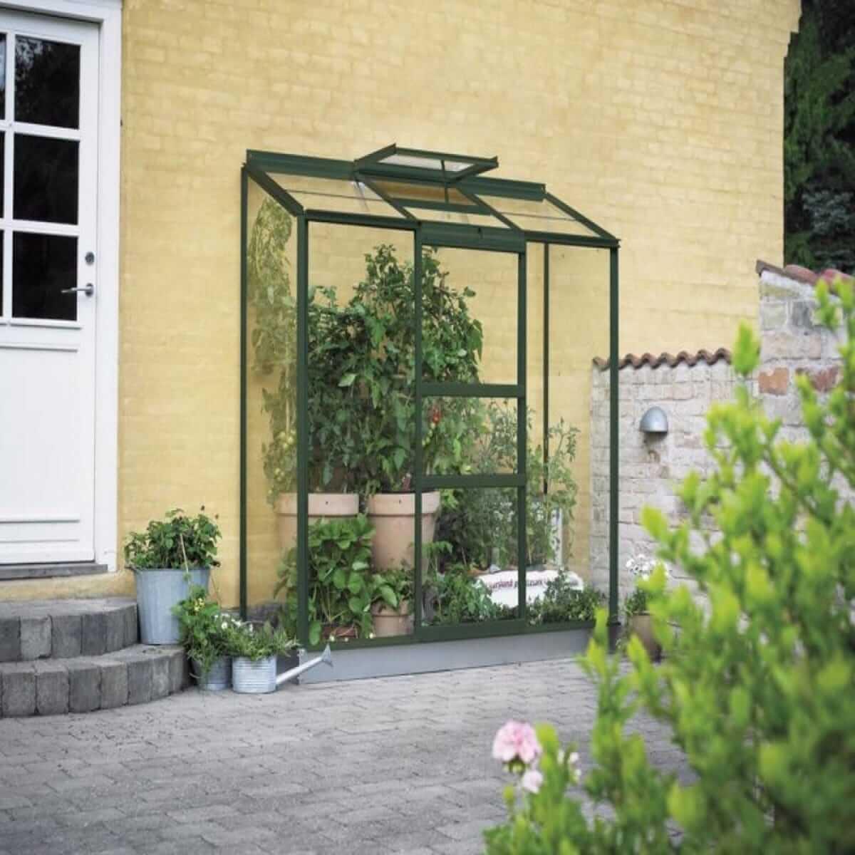Halls Växthus Altan 3 1,3 kvm Grön Glas