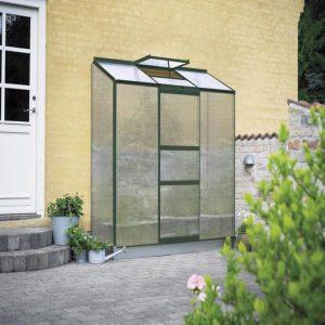 Halls Växthus Altan 3 1,3 kvm Grön Polykarbonat