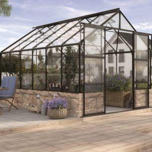 Vitavia Växthus Cassandra 11500 Svart & Glas