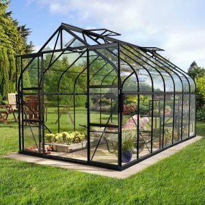 Vitavia Växthus Diana 11,5 kvm Svart Glas