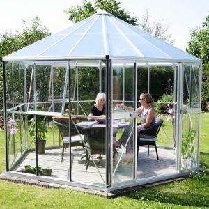 Vitavia Växthus/Lusthus Hera 9 kvm Aluminium Glas & Polykarbonat