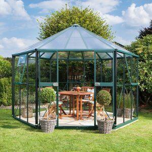 Vitavia Växthus/Lusthus Hera 9 kvm Grön Glas & Polykarbonat
