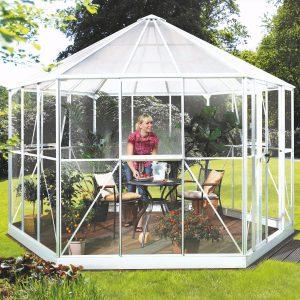 Vitavia Växthus/Lusthus Hera 9 kvm Vit Glas & Polykarbonat